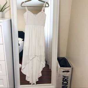 Bang Maxazria White Assymetrical Dress
